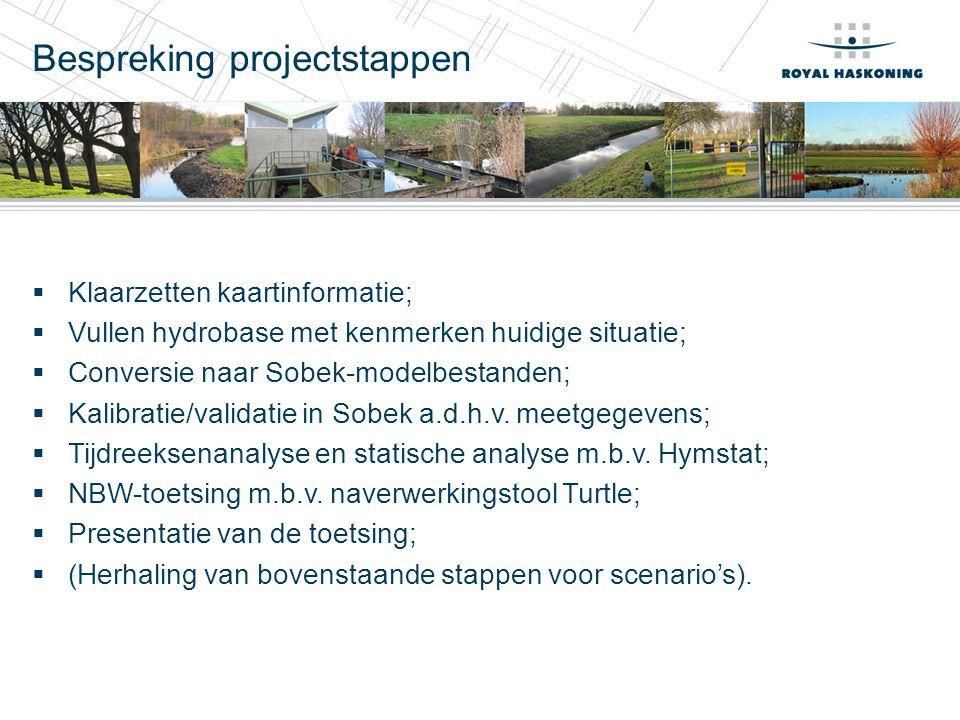 Bespreking projectstappen