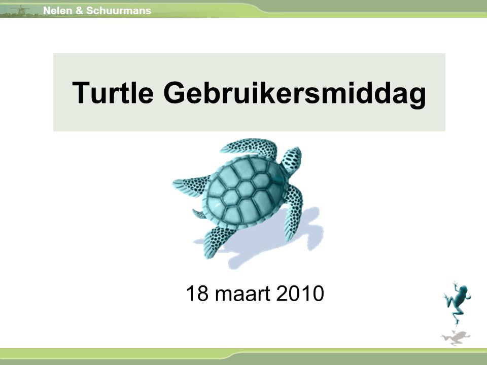 Turtle Gebruikersmiddag