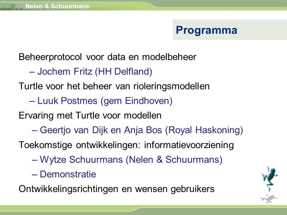 Programma Beheerprotocol voor data en modelbeheer