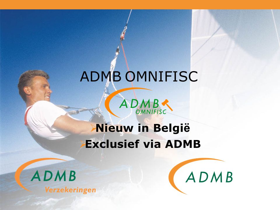 Nieuw in België Exclusief via ADMB
