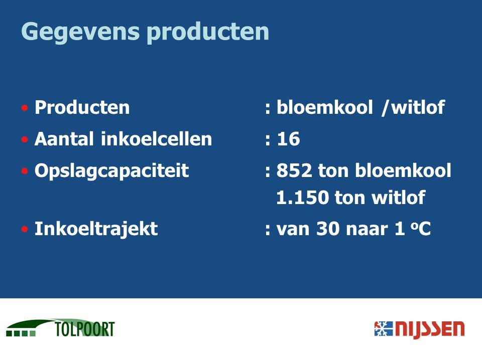 Gegevens producten Producten : bloemkool /witlof