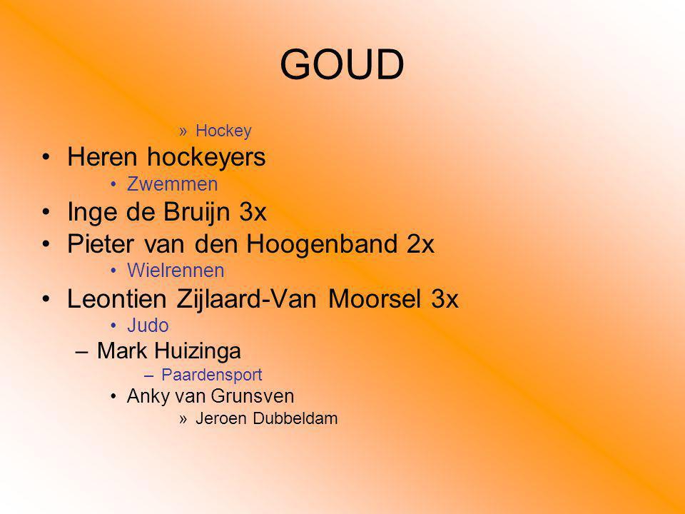 GOUD Heren hockeyers Inge de Bruijn 3x Pieter van den Hoogenband 2x