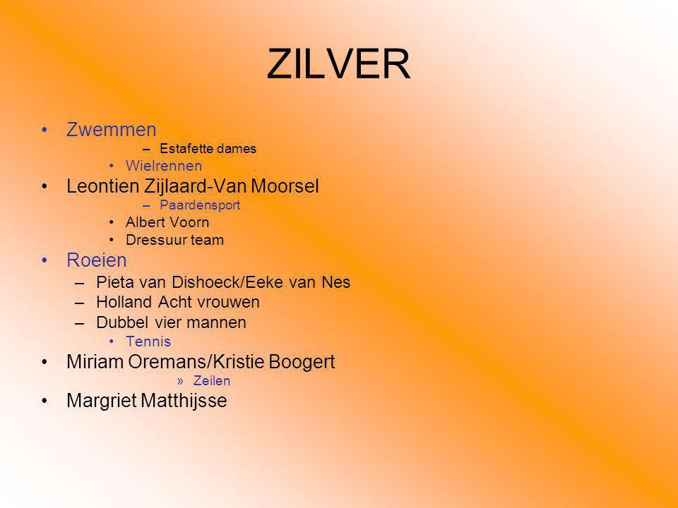 ZILVER Zwemmen Leontien Zijlaard-Van Moorsel Roeien