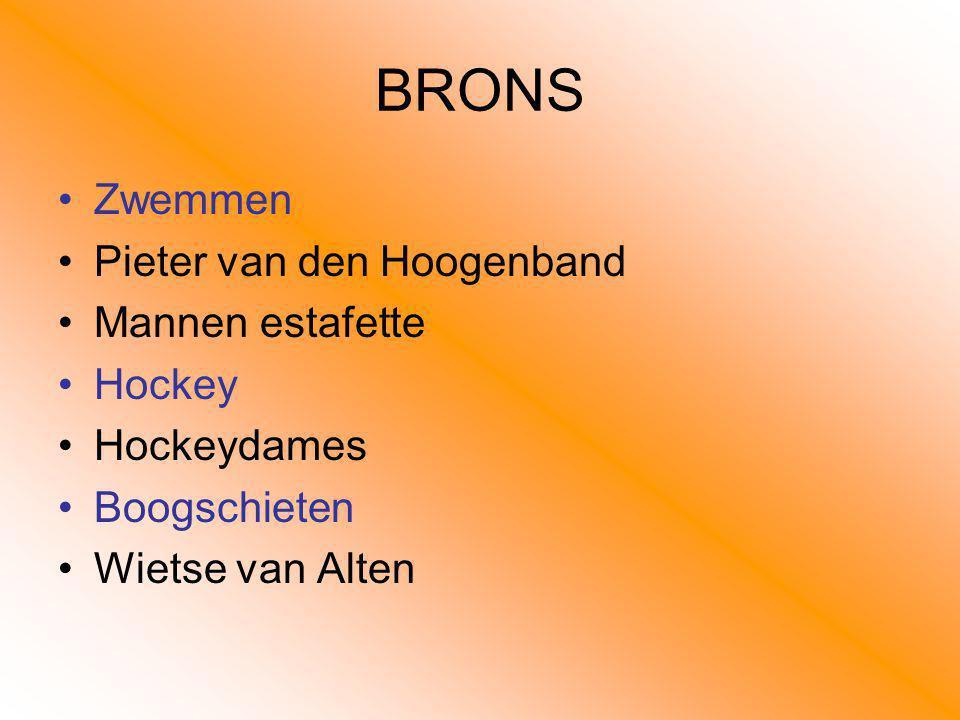 BRONS Zwemmen Pieter van den Hoogenband Mannen estafette Hockey