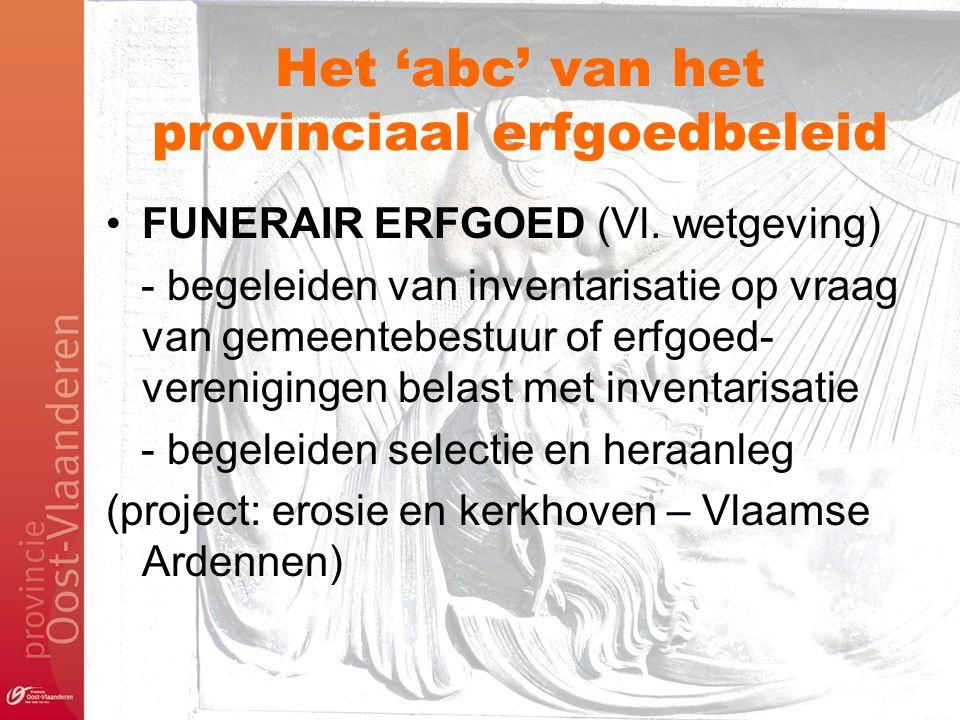 Het 'abc' van het provinciaal erfgoedbeleid