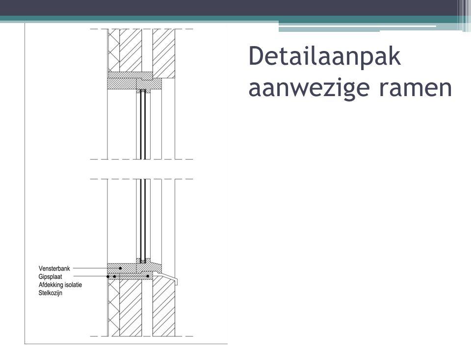 Detailaanpak aanwezige ramen