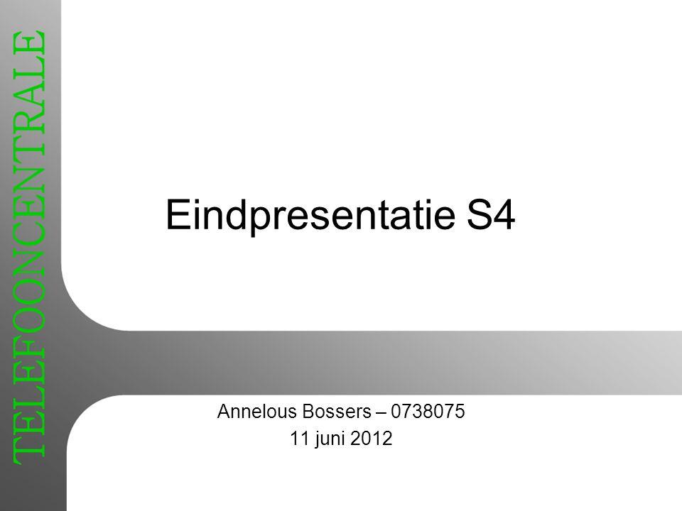Annelous Bossers – 0738075 11 juni 2012