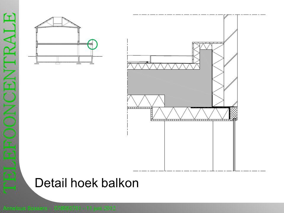 Detail hoek balkon