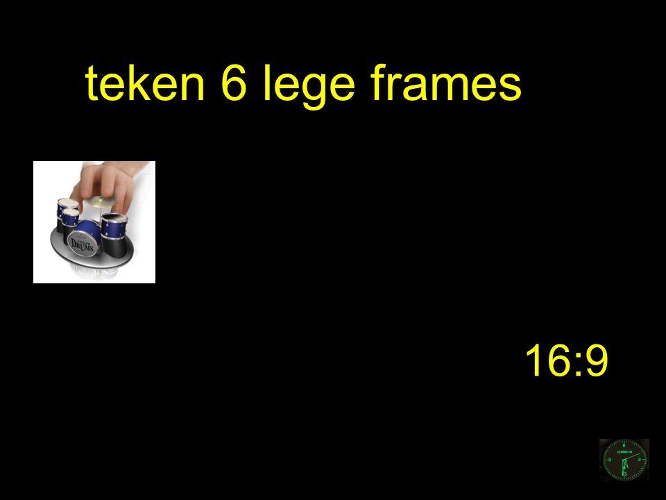 teken 6 lege frames 16:9