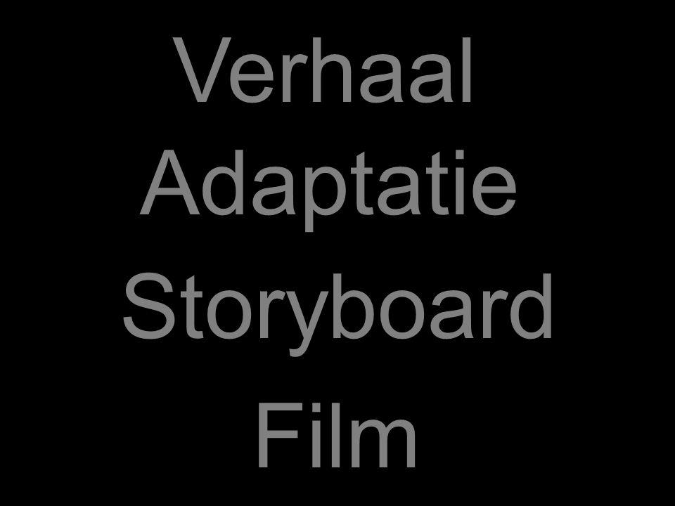 Verhaal Adaptatie Storyboard Film