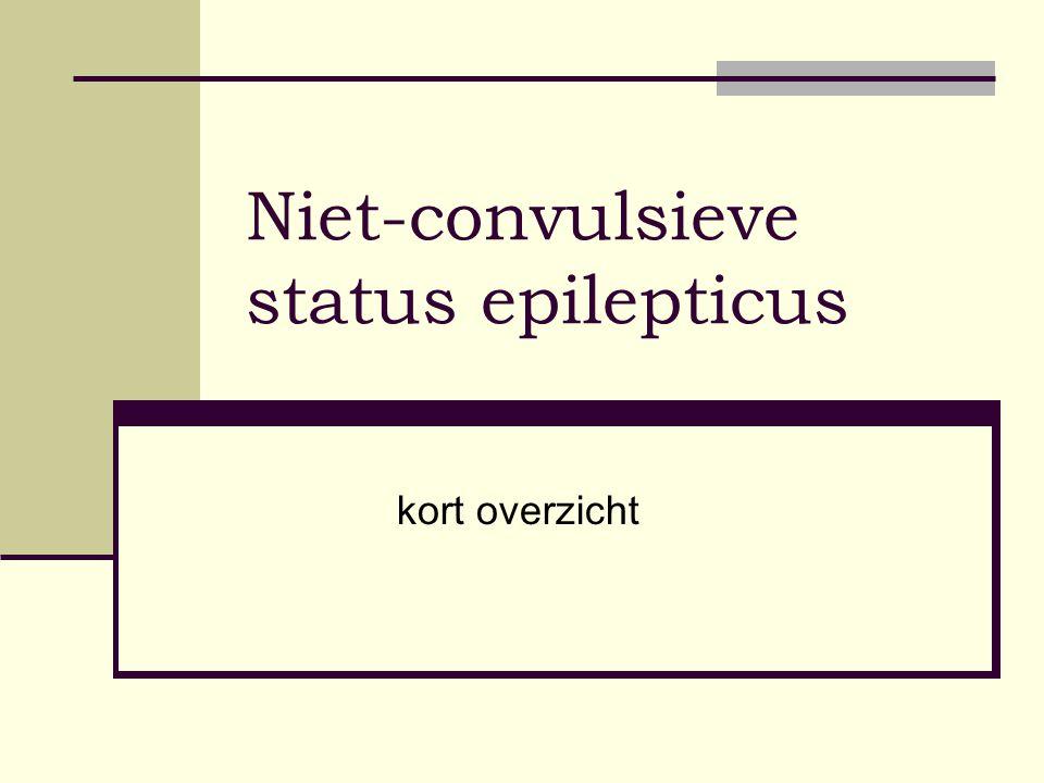 Niet-convulsieve status epilepticus