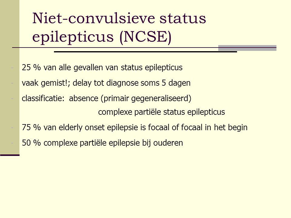 Niet-convulsieve status epilepticus (NCSE)