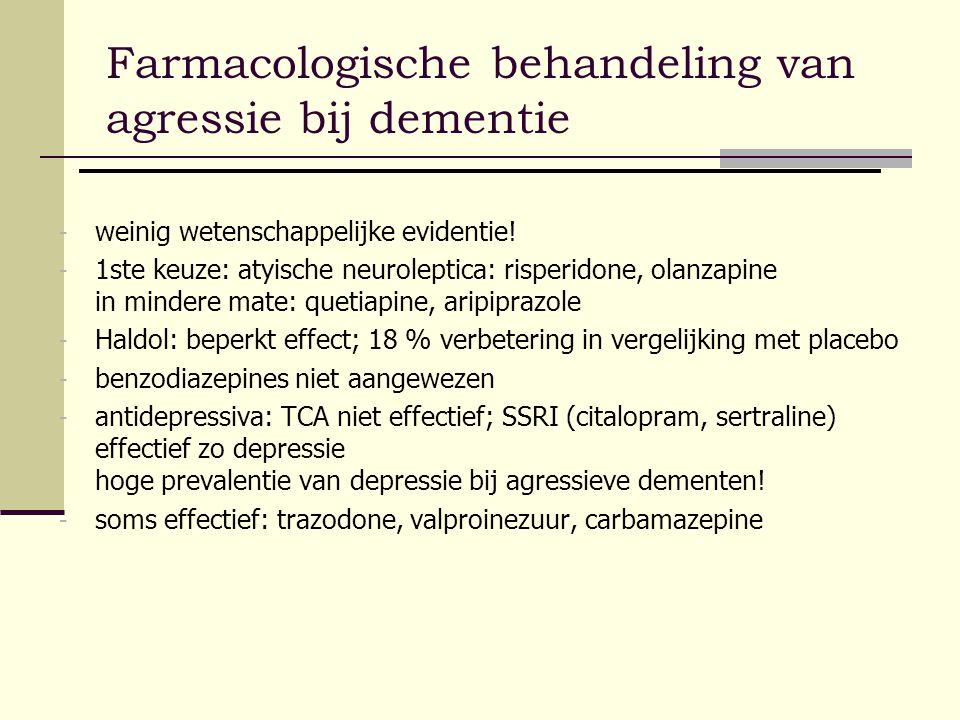 Farmacologische behandeling van agressie bij dementie