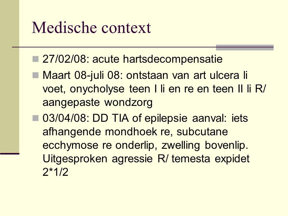 Medische context 27/02/08: acute hartsdecompensatie