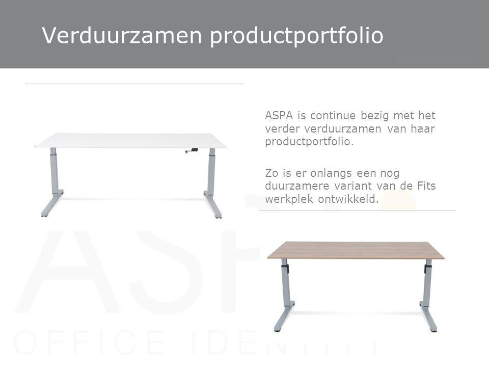 Verduurzamen productportfolio