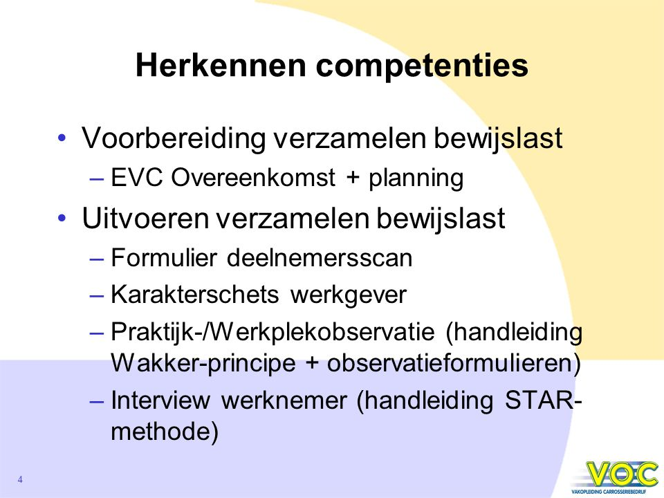 Herkennen competenties