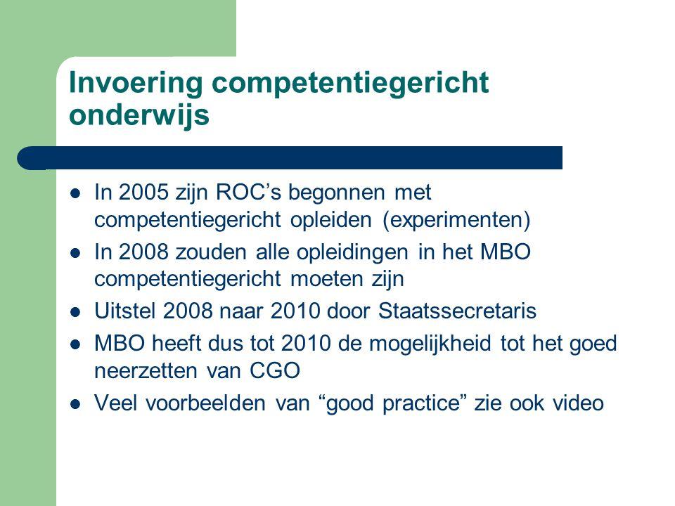 Invoering competentiegericht onderwijs