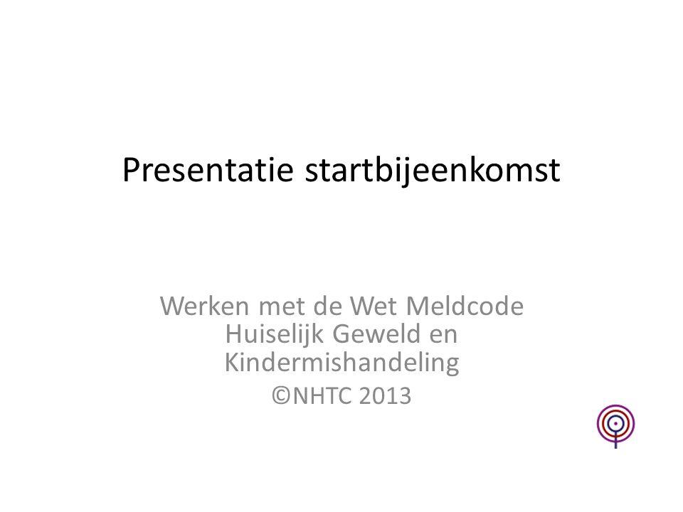 Presentatie startbijeenkomst
