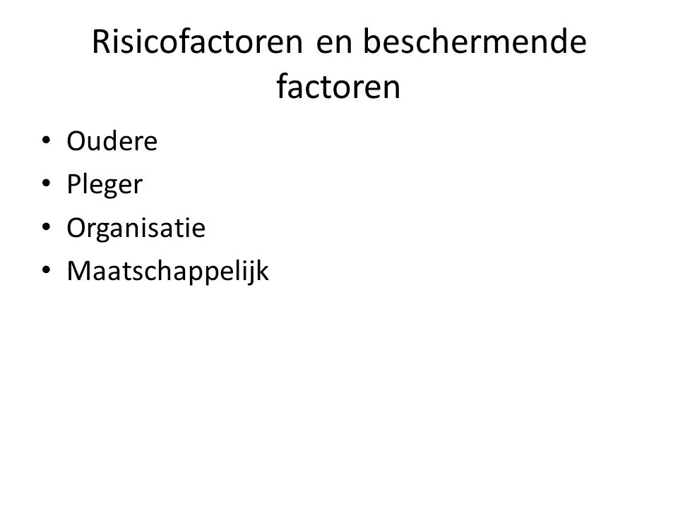 Risicofactoren en beschermende factoren
