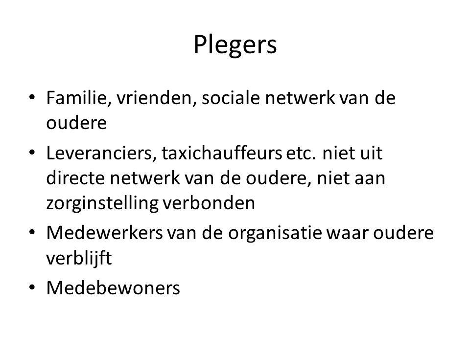 Plegers Familie, vrienden, sociale netwerk van de oudere