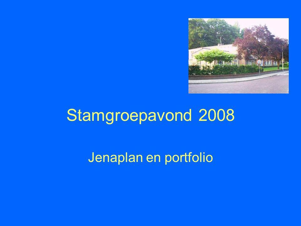 Stamgroepavond 2008 Jenaplan en portfolio