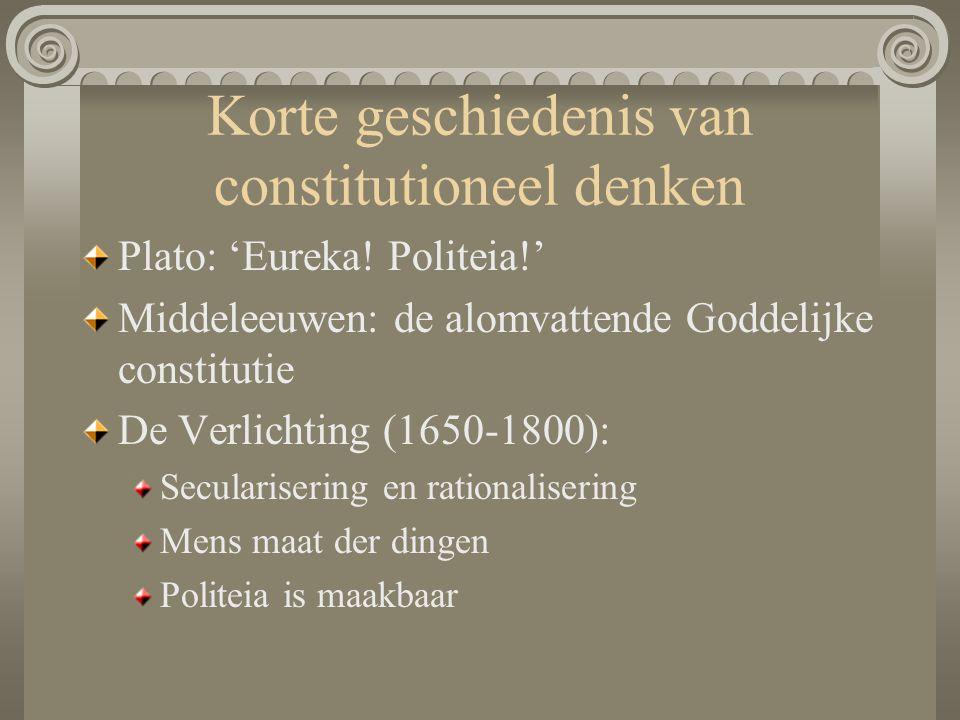 Korte geschiedenis van constitutioneel denken