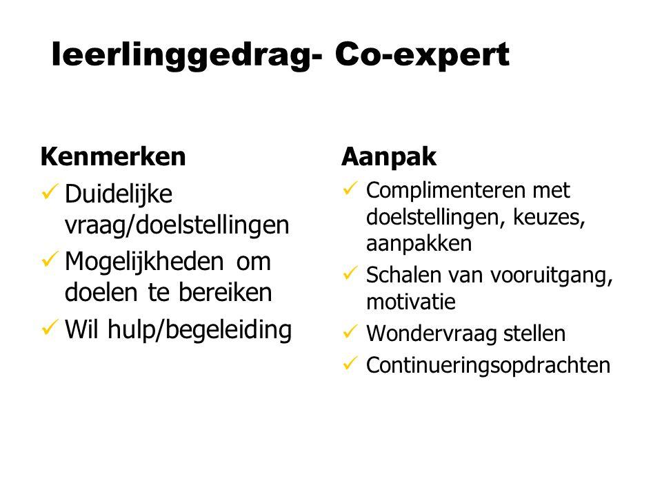 leerlinggedrag- Co-expert