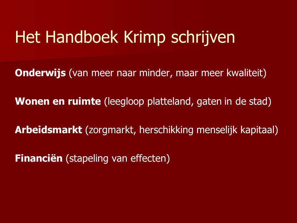 Het Handboek Krimp schrijven