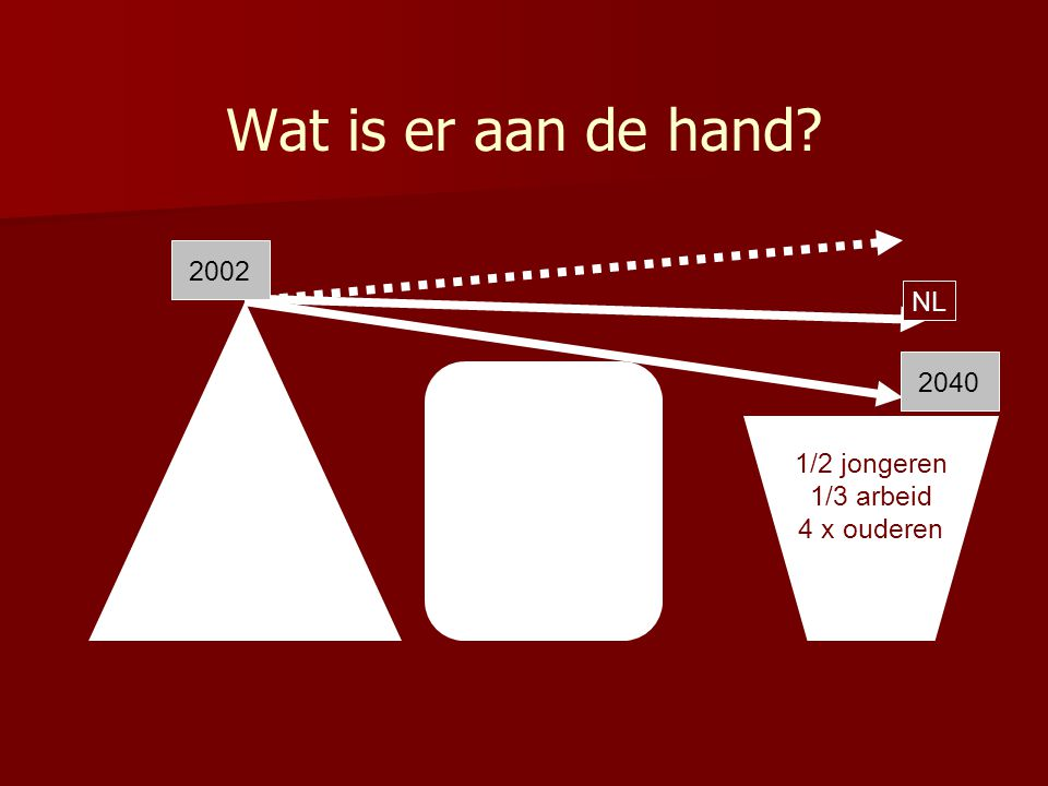 Wat is er aan de hand 2002 NL 2040 1/2 jongeren 1/3 arbeid