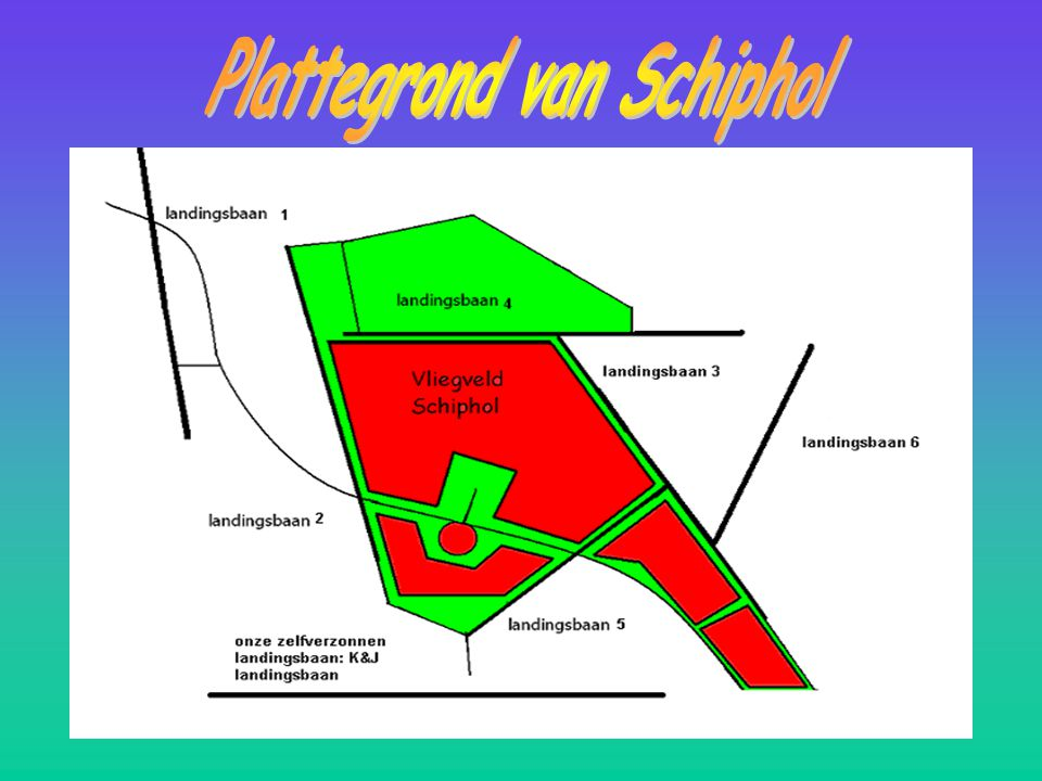 Plattegrond van Schiphol