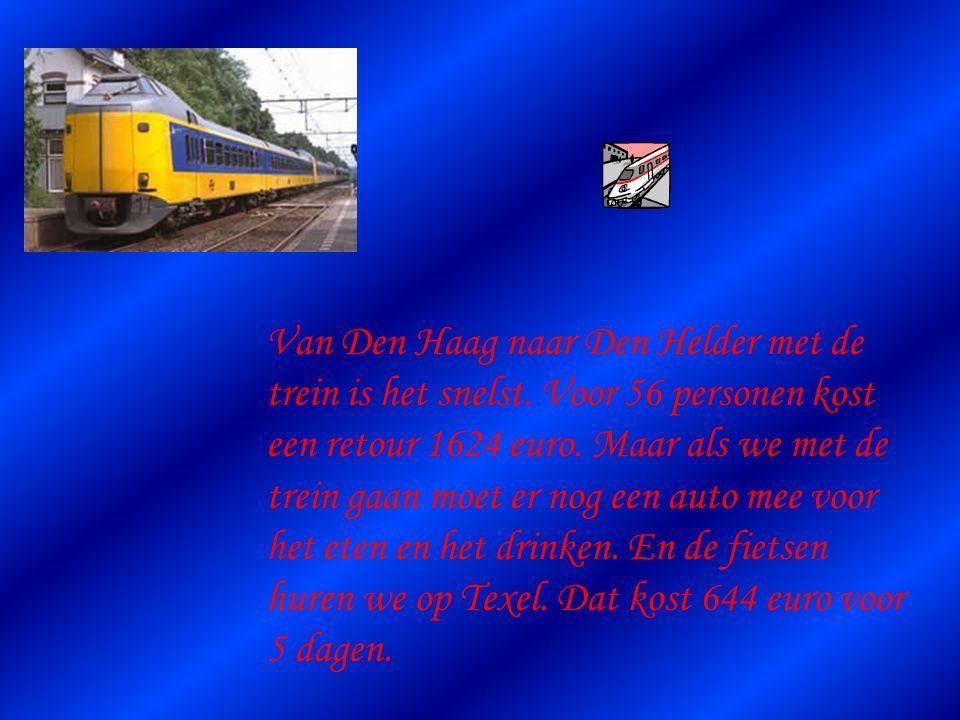 Van Den Haag naar Den Helder met de trein is het snelst