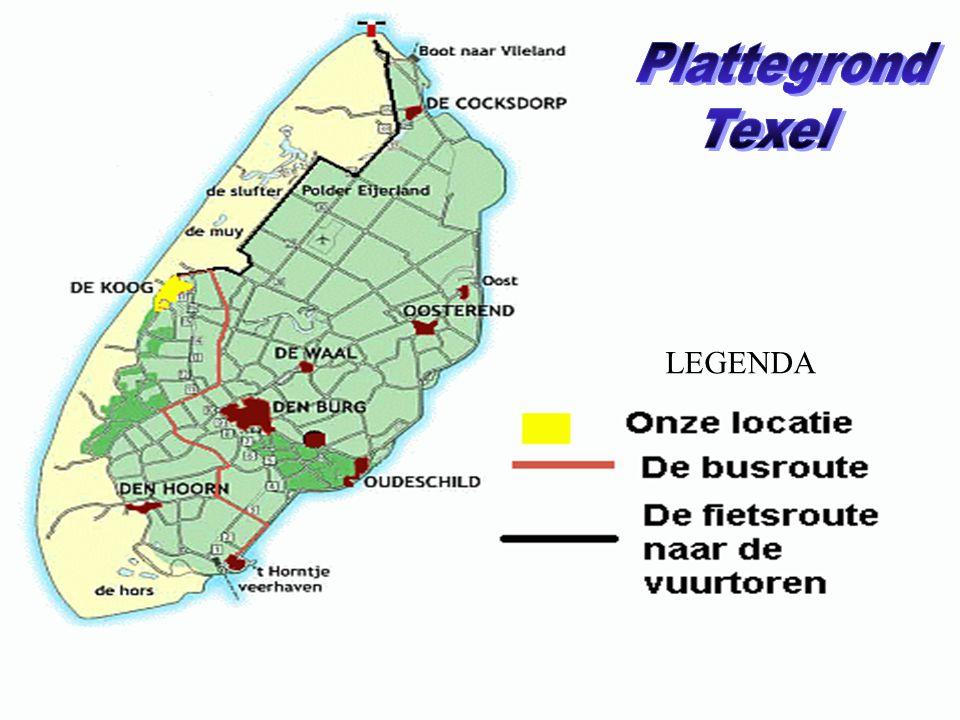 Plattegrond Texel LEGENDA