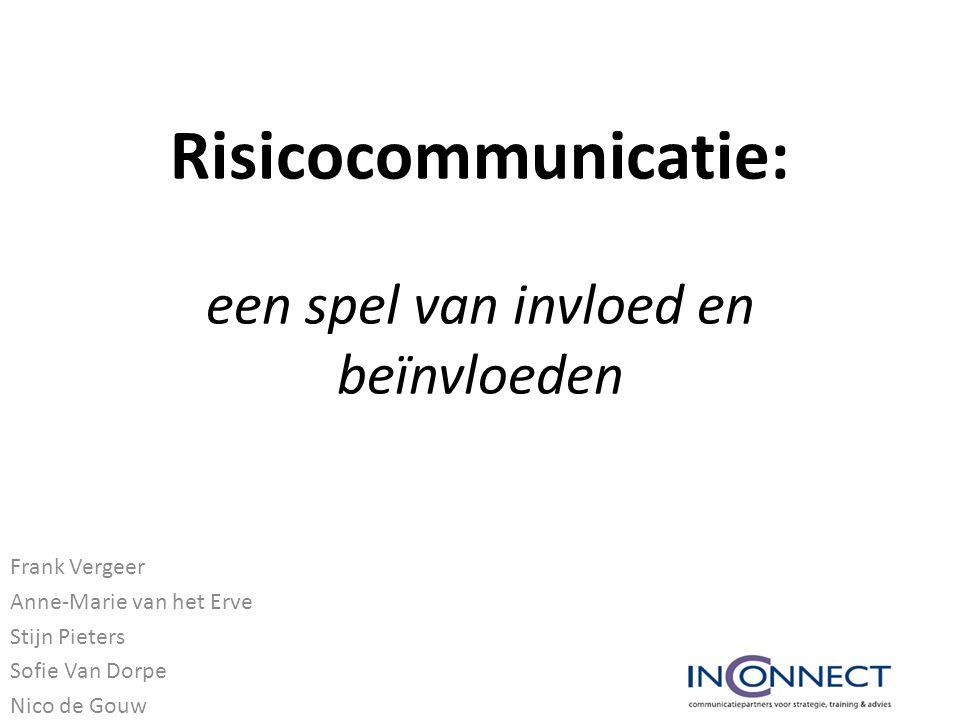 Risicocommunicatie: een spel van invloed en beïnvloeden