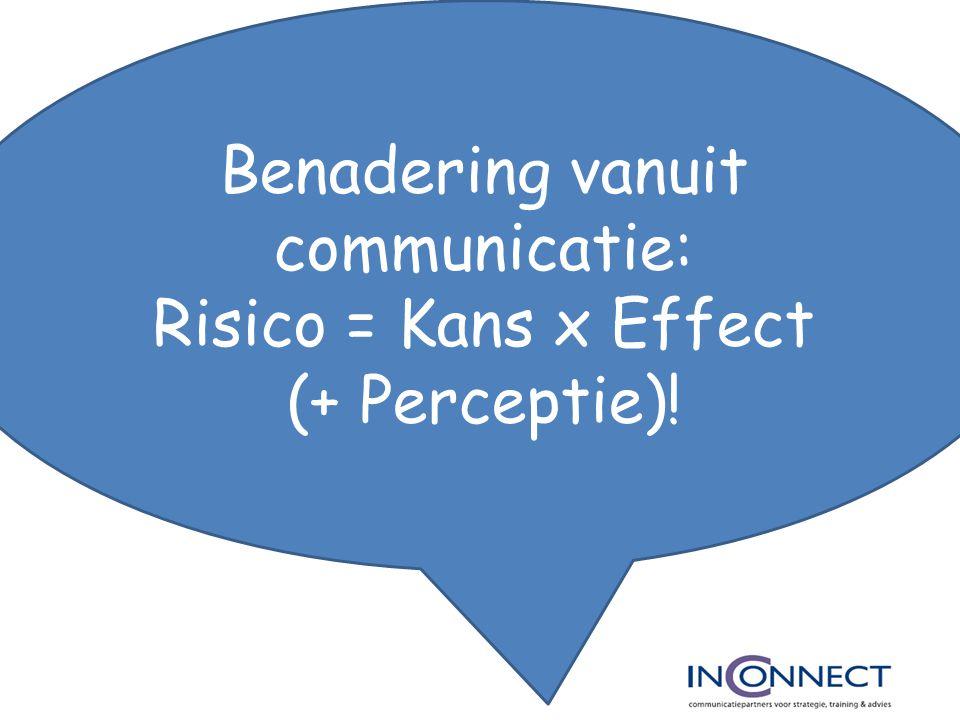 Benadering vanuit communicatie: