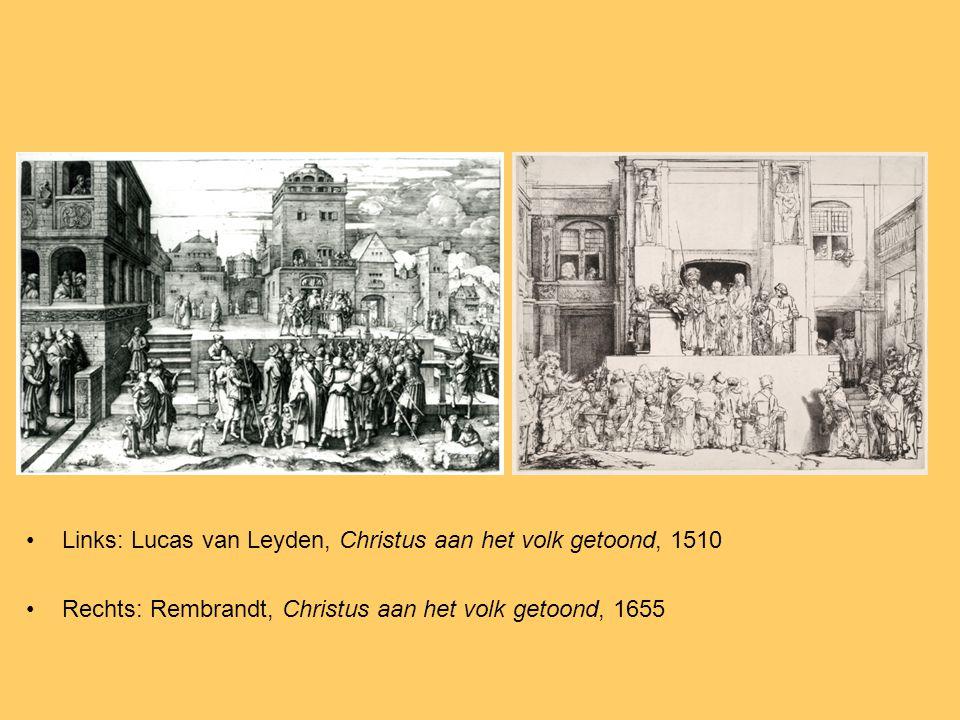 Links: Lucas van Leyden, Christus aan het volk getoond, 1510