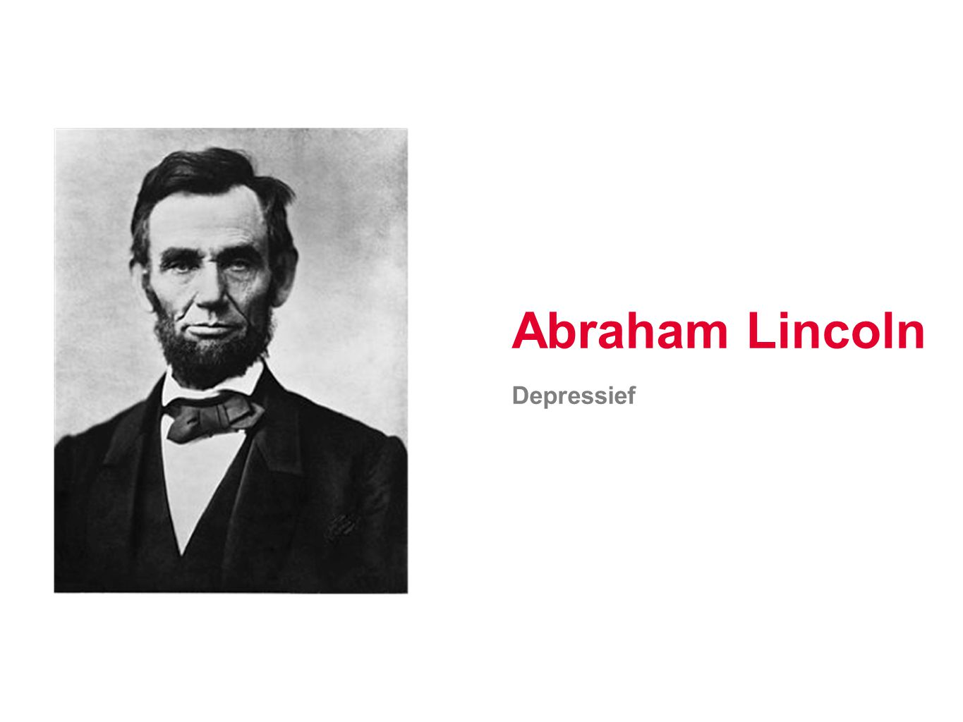 Abraham Lincoln Depressief