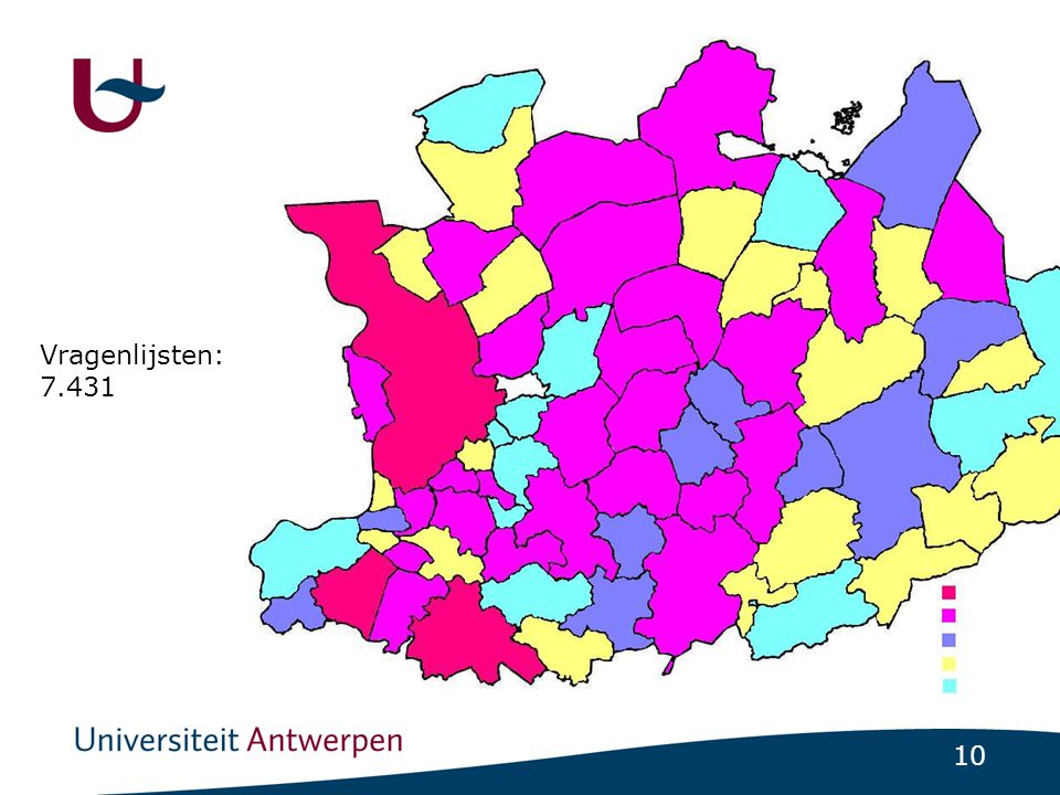 Vragenlijsten: 7.431 Only two towns were no parents participated: Baarle-hertog and Wijnegem