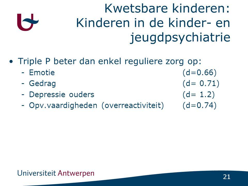 Kwetsbare kinderen: Kinderen in de kinder- en jeugdpsychiatrie