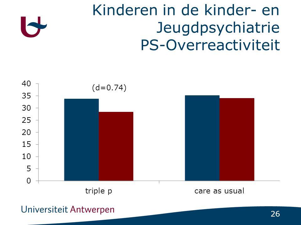 Kinderen in de kinder- en Jeugdpsychiatrie PS-Overreactiviteit