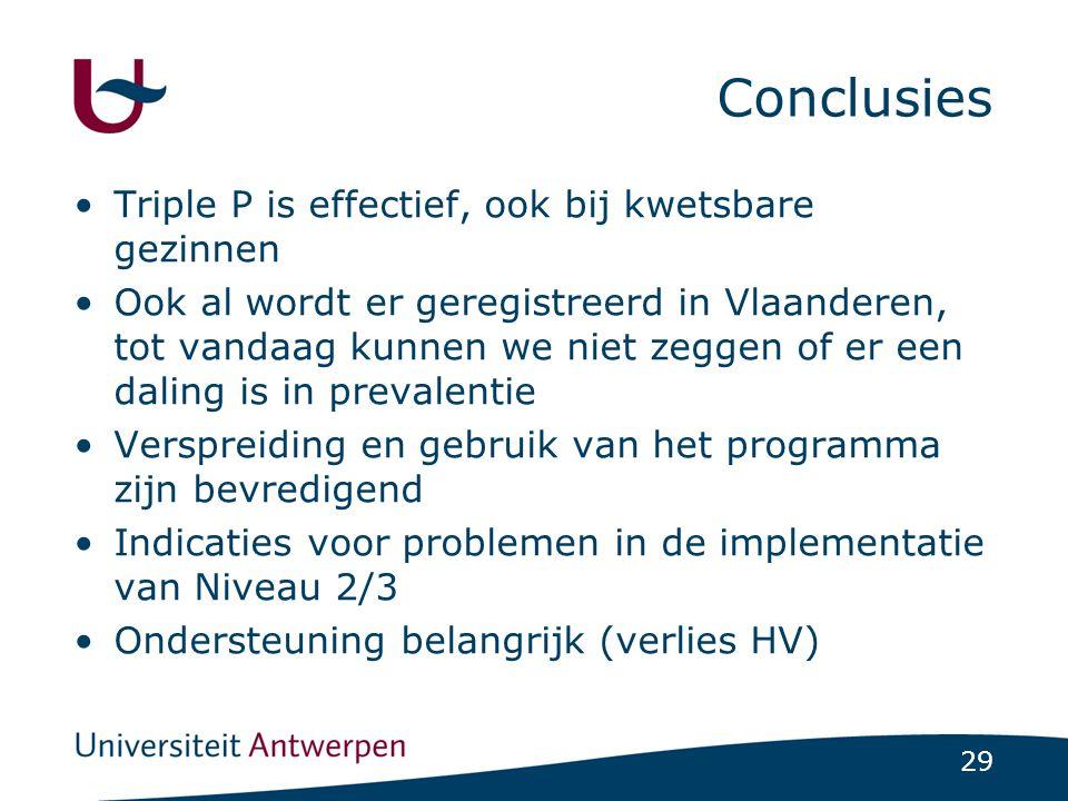 Conclusies Triple P is effectief, ook bij kwetsbare gezinnen