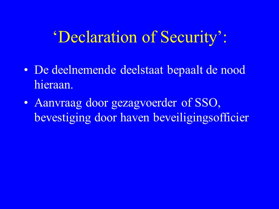 'Declaration of Security':