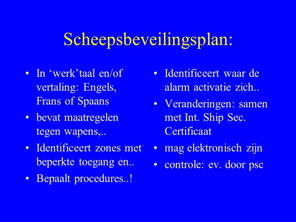 Scheepsbeveilingsplan: