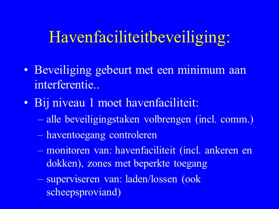 Havenfaciliteitbeveiliging: