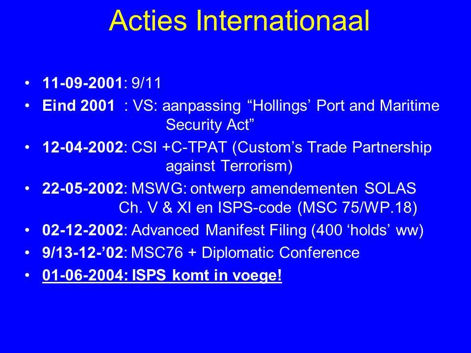Acties Internationaal