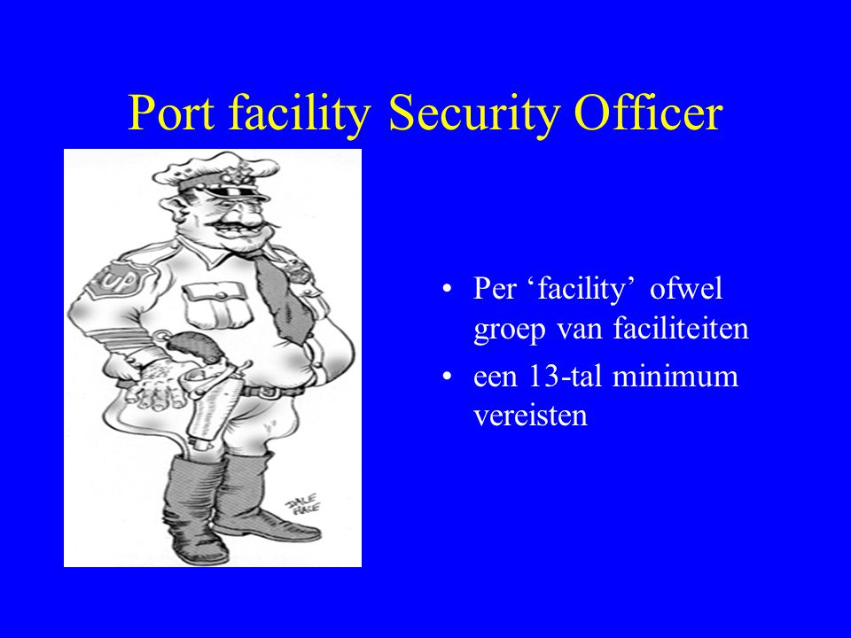 Port facility Security Officer