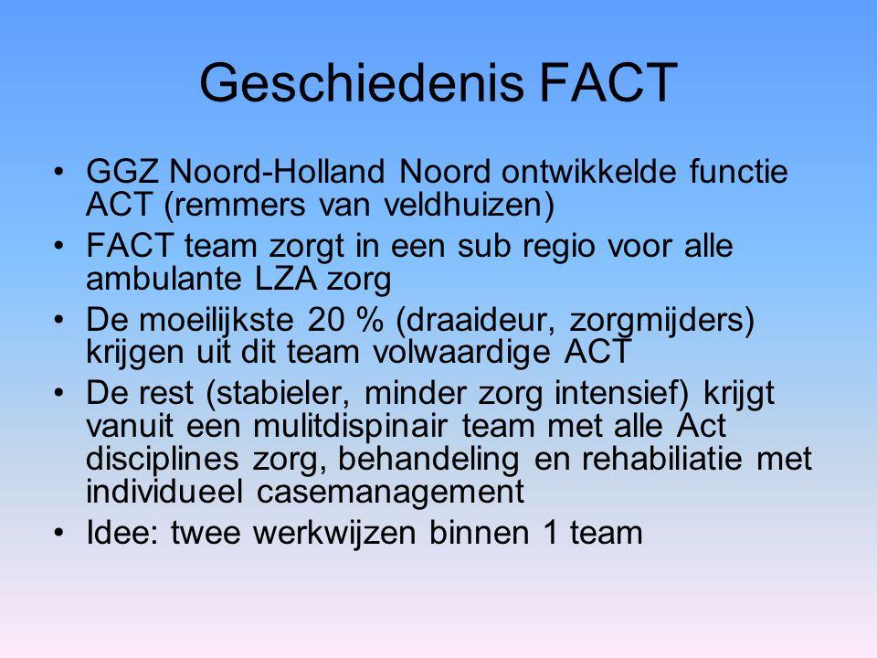 Geschiedenis FACT GGZ Noord-Holland Noord ontwikkelde functie ACT (remmers van veldhuizen)