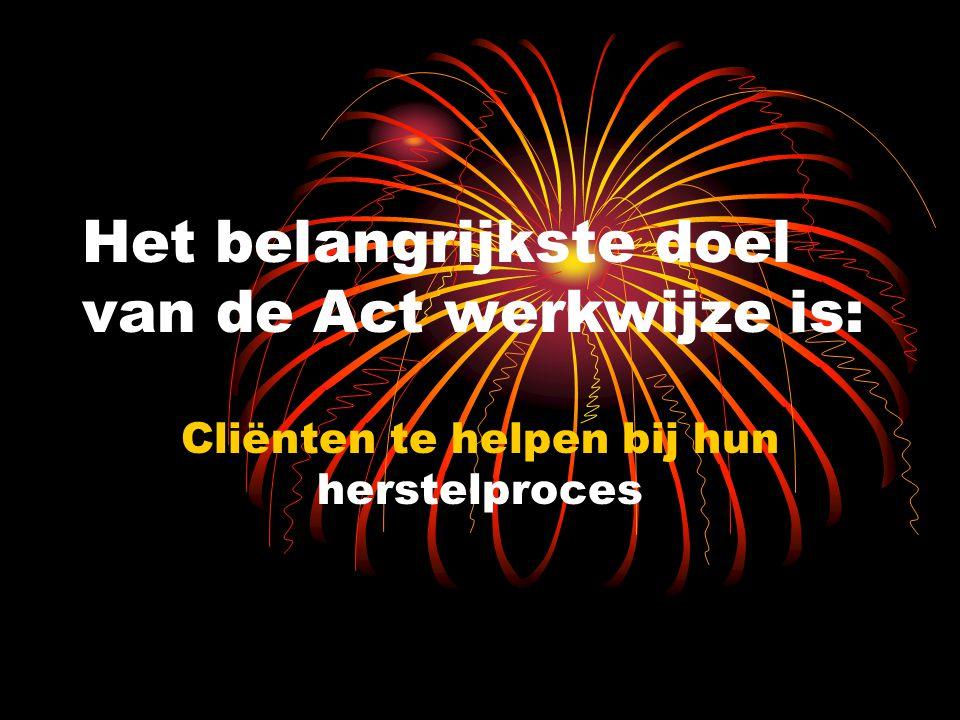 Het belangrijkste doel van de Act werkwijze is: