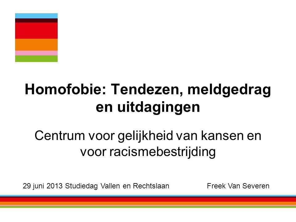 Homofobie: Tendezen, meldgedrag en uitdagingen