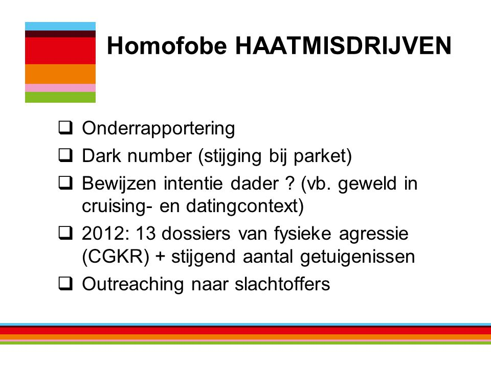 Homofobe HAATMISDRIJVEN