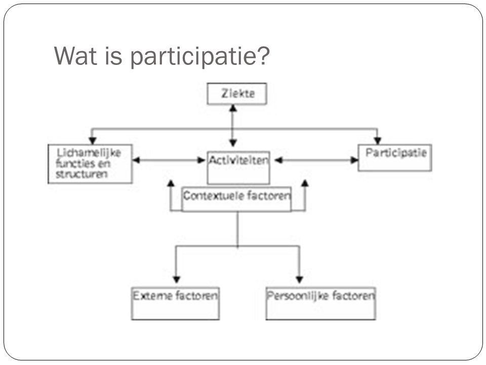 Wat is participatie